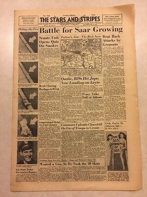 Stars and Stripes Dec 9 1944 Battle for Saar Growing, Peace Talks Fail at Athens
