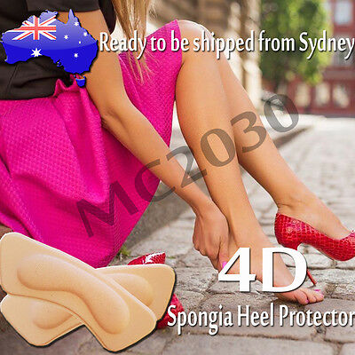 2 5 10 Pairs Shoes Back Spongia Back Heel Grip Protector Insole Insert 4D design
