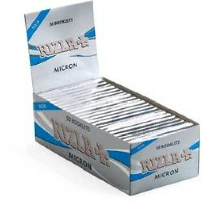 RIZLA CARTINA CORTA MICRON.<br />BOX DA 50 BLOCCHETTI DA 50 CARTINE.2500 CARTINE