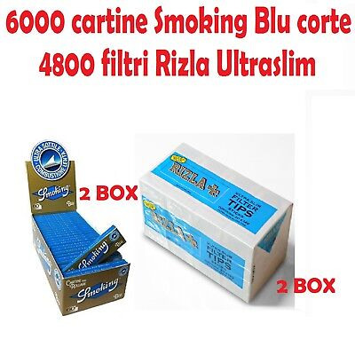 6000 CARTINE SMOKING BLU CORTE<br />4800 FILTRI RIZLA ULTRASLIM