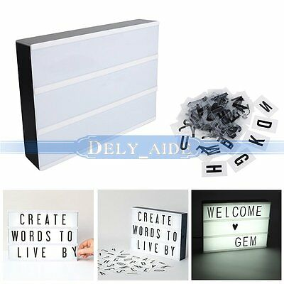 Cinematic Light Up Box Letters Symbols Wedding Party Decoration Gift A4 LED Sign