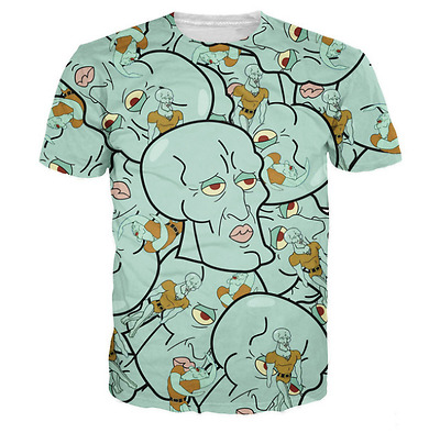 New Fashion Womens/Mens Handsome Squidward Funny 3D Print Casual T-Shirt XU442