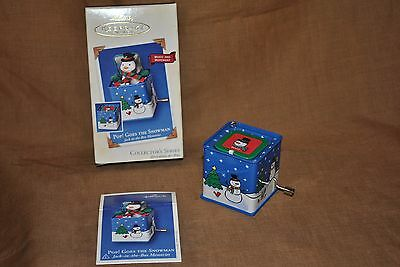 Pop! Goes the Snowman Jack-in-the-Box-Memories - Hallmark Collector's Series