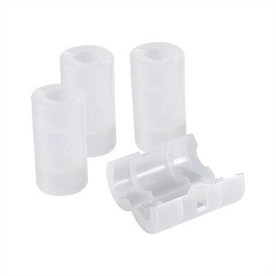 4 Pcs AA to C Size Case White Cover Battery Converter Adaptor Adapter Keeper