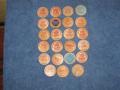 Vintage Sambo's Wooden Tokens including anniversary specials