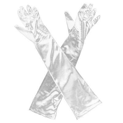 23'' Women Evening Party Opera Bridal Wedding Satin Arm Hand Sleeve Long Gloves