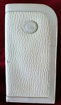 DOONEY & BOURKE*ALL-WEATHER-LEATHER*Eye-Glasses/Sunglasses Case/Pouch*Bone