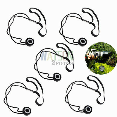 5x Lens Cap Keeper Cover Filter Holder Protector String Leash Straps Camera-NEW