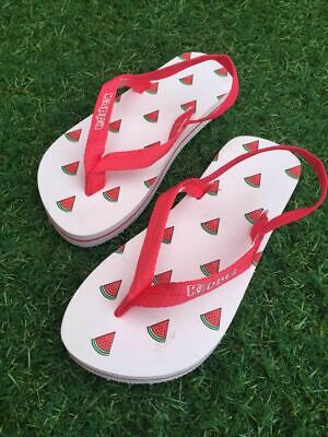 a22c4b5bbf191 Kappa Girls infant junior Watermelon design flip flops with ankle strap.