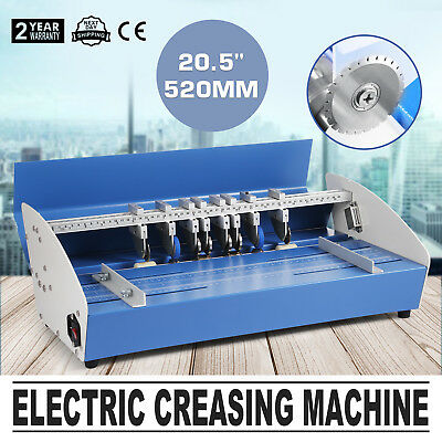 520mm Electric Creaser Scorer Paper Creasing Machine Cards Coupon 3IN1