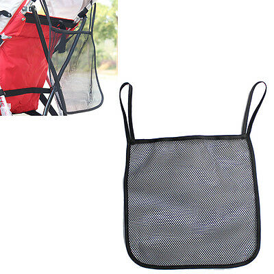 1PC Baby Infant Stroller Hanging Bag Black Mesh Bottle Diaper Storage Organizer