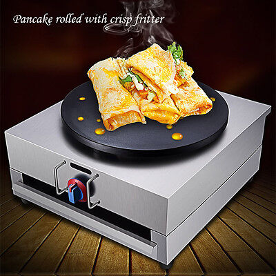 Crepes Maker Commercial Pancake Fruit Machine Single Head Gas New