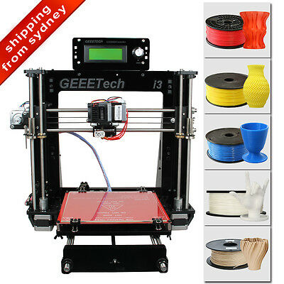 No Tax Geeetech Acrylic 3D Printer Prusa I3 DIY Support 5 filaments From Sydney