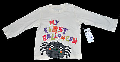 Nutmeg Baby Girls Halloween Spider Top Long Sleeved 9-12 Months 74-80Cm New