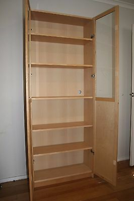 Ikea Billy Bookcase including glass/panel doors