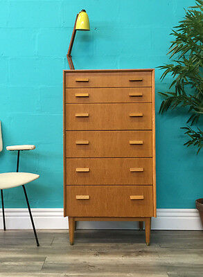 Rare Stylish Retro Mid Century Early 50S G Plan E Gomme Oak Chest Of Drawers