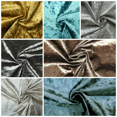 Crushed Glitz Velvet Upholstery & Curtain Fabric (All Colours) - NEW LOW PRICE