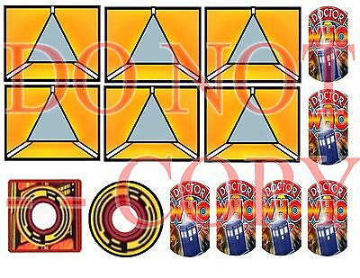 DOCTOR WHO CUSHIONED-- Pinball Target  Cushioned Decals