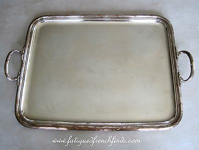 Christofle Rubans Serving Tray Double Handles 39cms by 57.5cms C1921 Large