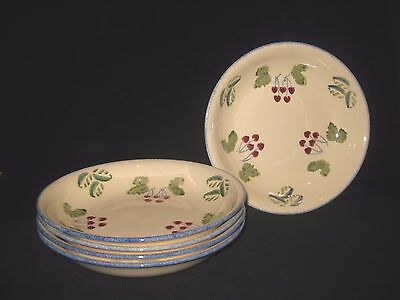 Poole Pottery Handpainted Dorset Fruits Pasta Bowls