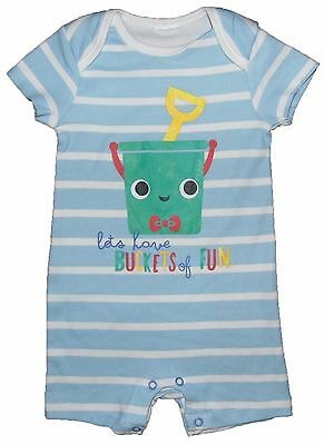 Baby Boys Summer Romper Ex Store Seaside Bucket And Spade Theme LAST FEW