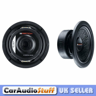 """Match PP72W-D Pair of 6.5"""" 2 x 2 Ohm DVC Subwoofer Drivers 200w Max"""