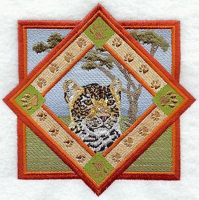"Leopard, Wild Animal, Exotic Cat Embroidered Patch 5.8""x 5.8"""