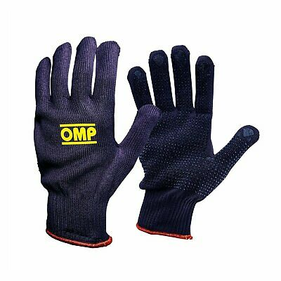 OMP SHORT MECH Mechanics Gloves Karting Rally Motorsport Dark Grey Technical