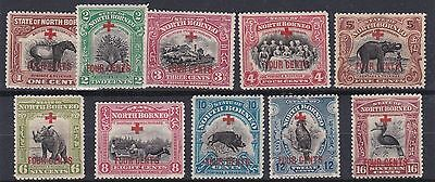 North Borneo 1918      S G 235 - 244   Various Values To 16C On 4C    Mh
