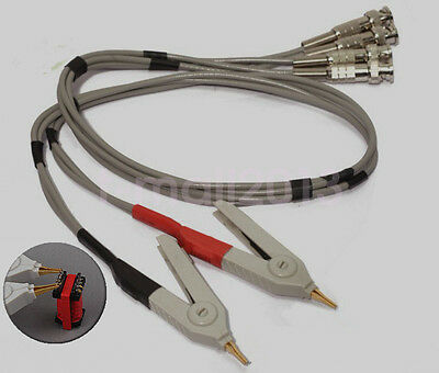 Kelvin Clip LCR Meter Test Leads Lead Alligator Clip With BNC Connector Cable