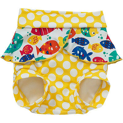 Bubbles Baby Girls Swim Diaper Nappy Cover Trunks Fish Spot Print Reuse Washable