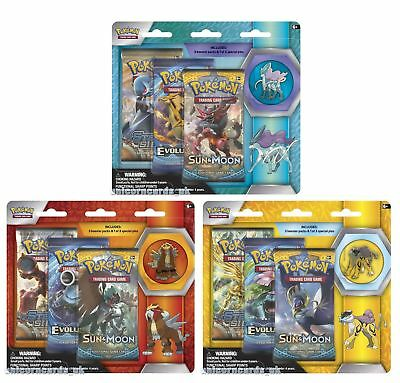Pokemon TCG: Collector's Pin 3-Pack Blisters x3 :: Entei, Raikou and Suicune  ::