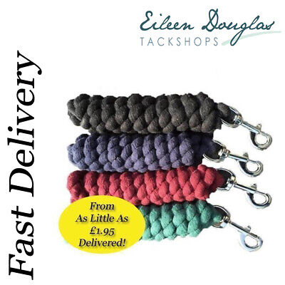Horse Cotton Lead Rope ***From Only £1.95*** QUANTITY DISCOUNT Pony Dog Donkey