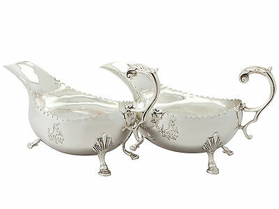 Pair of Irish Sterling Silver Sauceboats – Vintage 1967