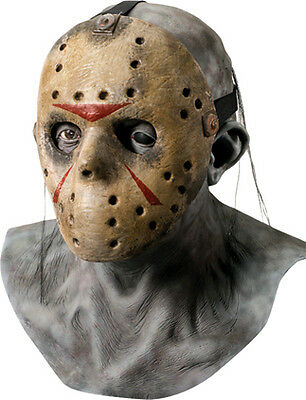 Friday The 13th - Dlx Jason Latex Mask & Removable Hockey Mask - Adult