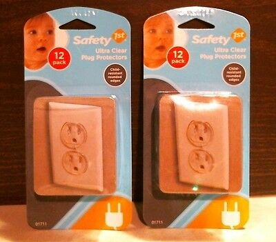 Safety 1st 01711 Clear Outlet Plugs Protectors 12 Count LOT of 2 FREE SHIPPING