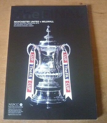 2004 - Manchester United v Millwall, FA Cup Final Match Programme.