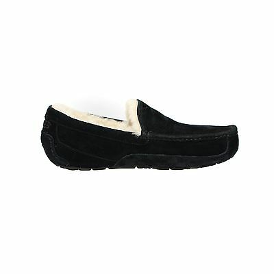 Ugg Ascot Black Suede Moccasin Sheepskin Mens Shoes Slippers Size Us 9 New