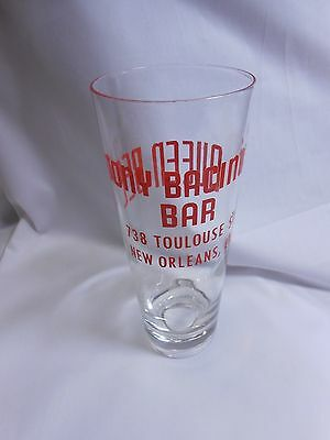 New Orleans Estate TONY BACINO's Queen BEE BAR GLASS  restaurant china hotel