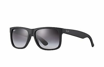 Ray-Ban RB4165 Justin Sunglasses 601/8G Black Frame/Grey Gradient Lens 55mm