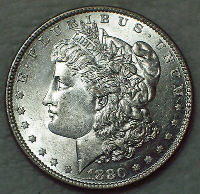 1880 O *SILVER* Morgan Dollar NOT CLEANED High Grade Authentic Very LUSTEROUS $1
