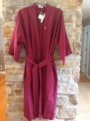 NWT! Mens Christian Dior Monsieur Burgundy Robe Polyester 2 Pockets One Size