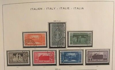 Italy stamp collection 1861-1976 CV $2,757 w/ 700 mint & used Schaubek HCV