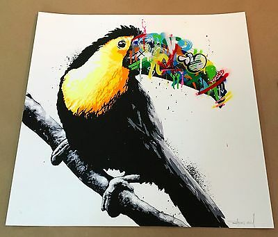 Toucan Screen Print Hand Finished - Martin Whatson - Art - Ltd Edition / Signed
