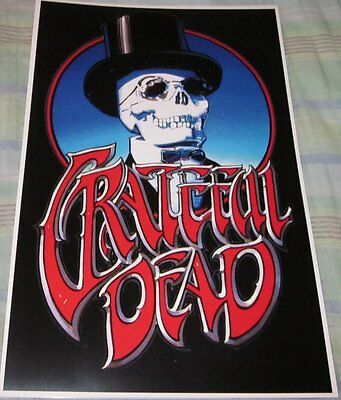 Grateful Dead Skeleton With Top Hat Replica Poster W/top Loader