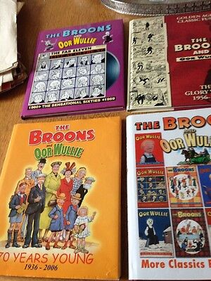 4 THE BROONS AND OOR WULLIE HARDBACK ANNUALS Job Lot