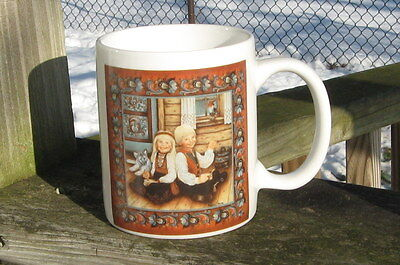 NORWEGIAN ELKHOUND MUG - Rice Pudding Kids -SUSANNAH TOFTEY ARTIST -REDUCED PRIC