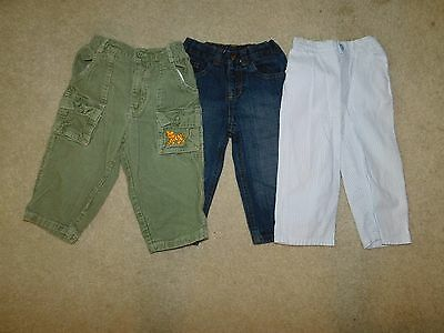 Boys Lot of 3 Casual Pants Size 18 Months Wrangler, Le Top, B.t. Kids