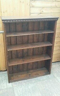 Vintage Early 20th Century Oak Bookcase.