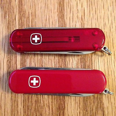 Lot of 2 New Wenger Swiss Army Knife Esquire Microlights Red & Fire #1200